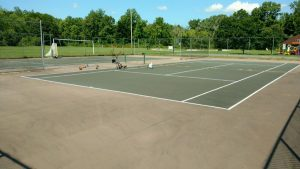 Deco court resurfacing Pirettis Sports Lenox, MA